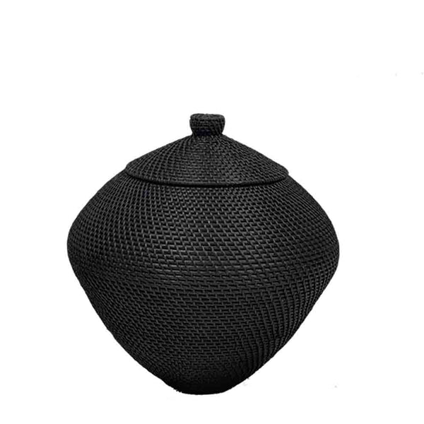 noir urn basket large