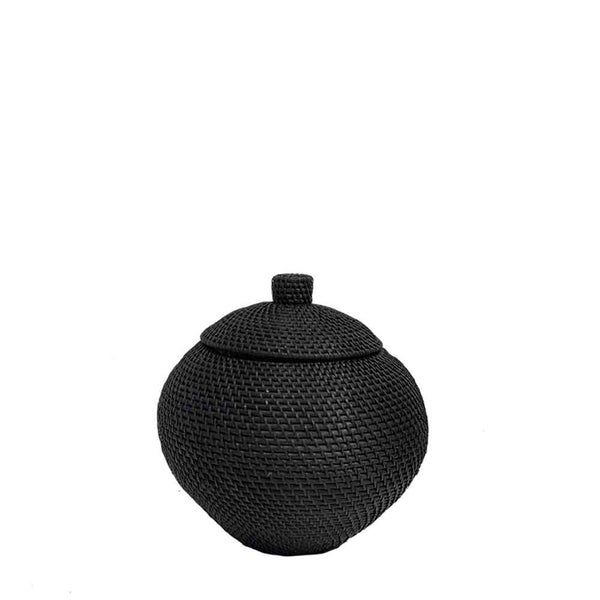 noir urn basket medium