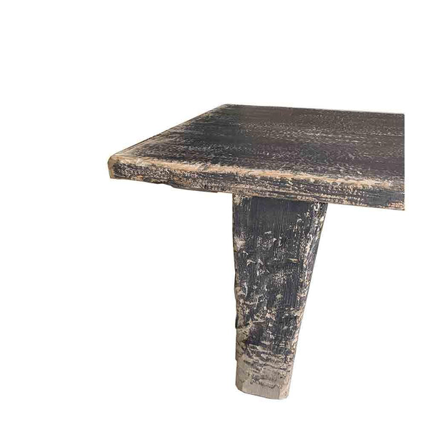 black wash coffee table wide