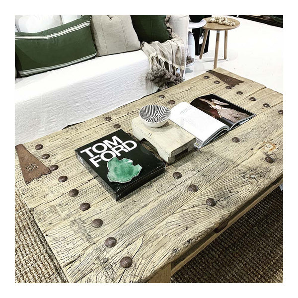 recycled elm bolt coffee table 1