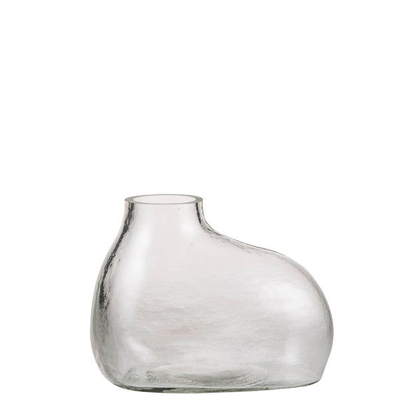 bulb rounded vase clear