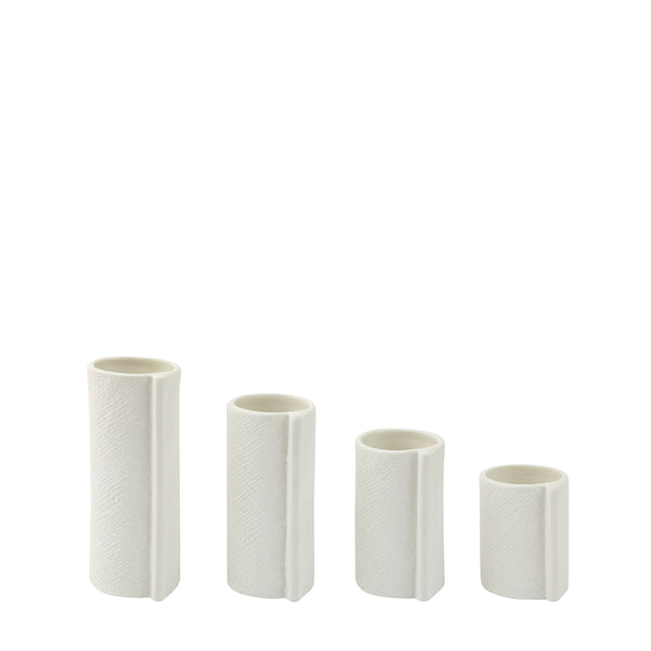 wrap vase set of 4 - white