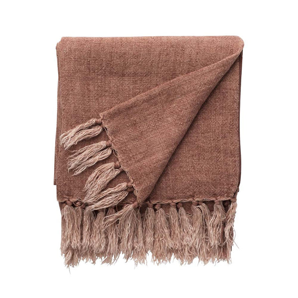 burton linen throw clay