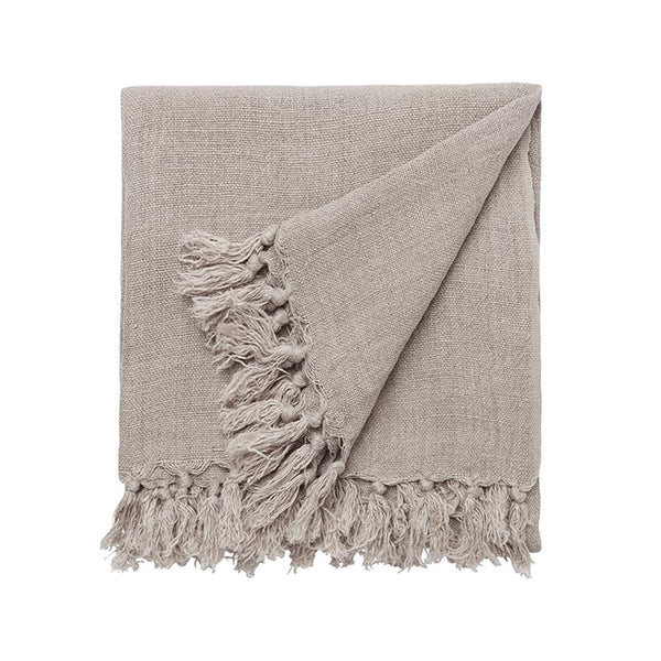 burton linen throw natural