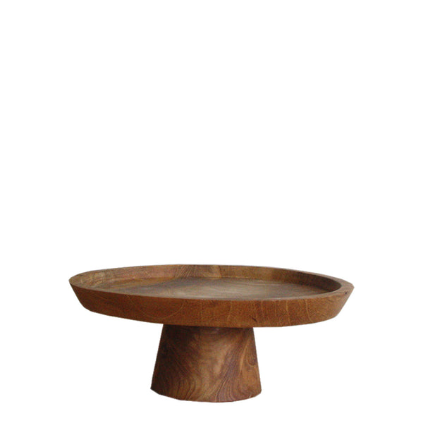 wooden cake stand large