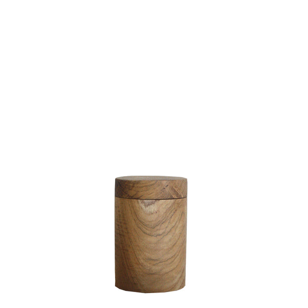 wooden canister large