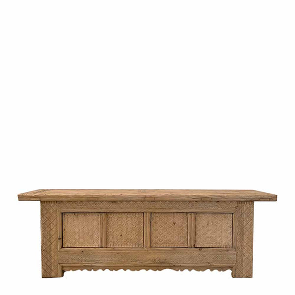 carved elm 4 door buffet