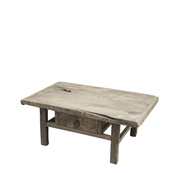 reclaimed timber coffee table one drawer