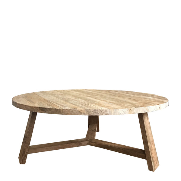 teak coffee table round