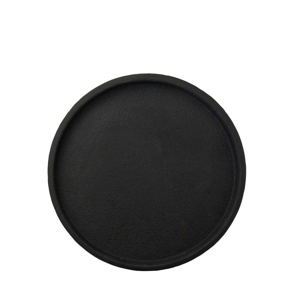 round concrete tray small black