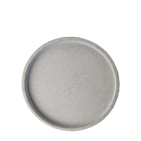 round concrete tray small natural