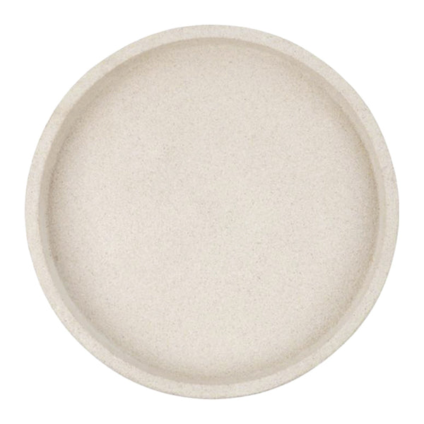 round concrete tray large sand