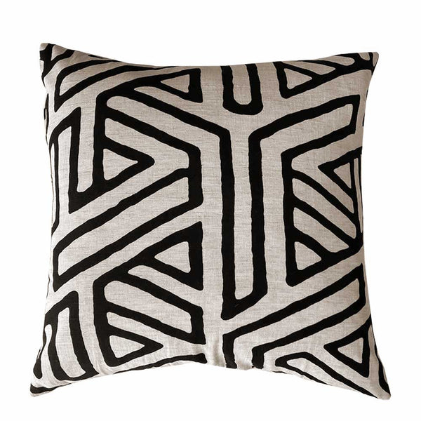 abstract cushion natural/black
