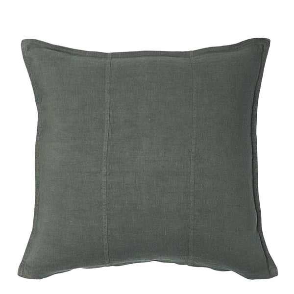 linen cushion large khaki