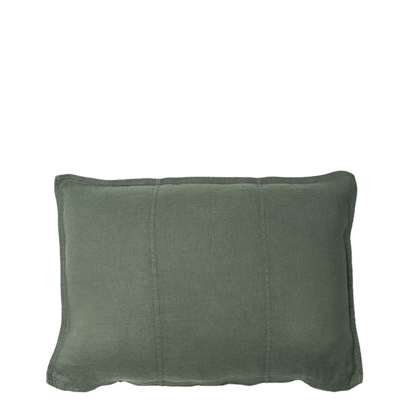 linen cushion rectangle khaki