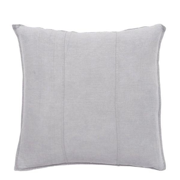 linen cushion large silver grey