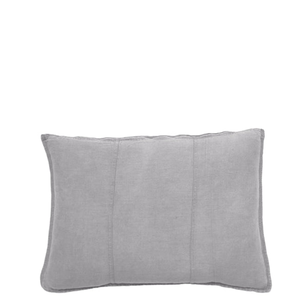 linen cushion rectangle silver grey