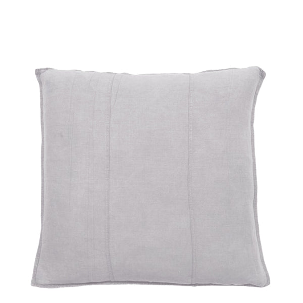 linen cushion small silver grey