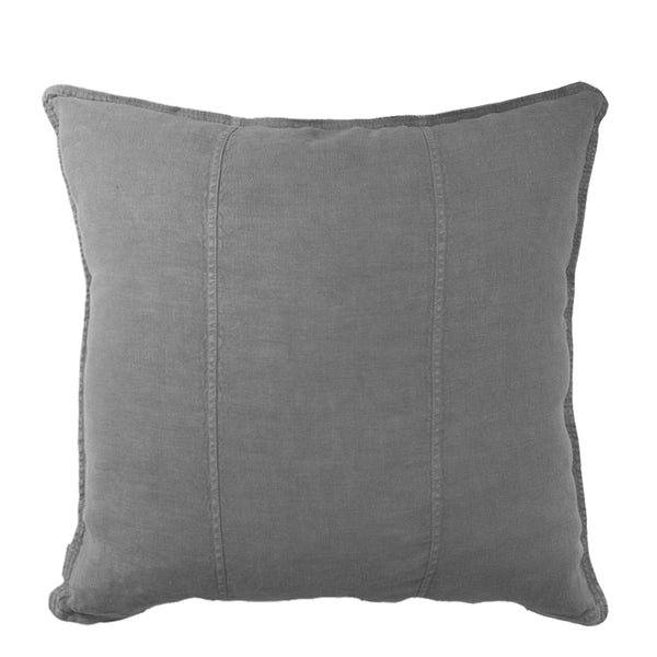 linen cushion large slate