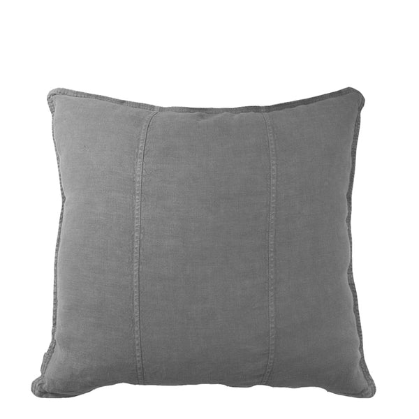linen cushion small slate
