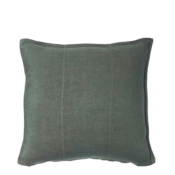 linen cushion small khaki