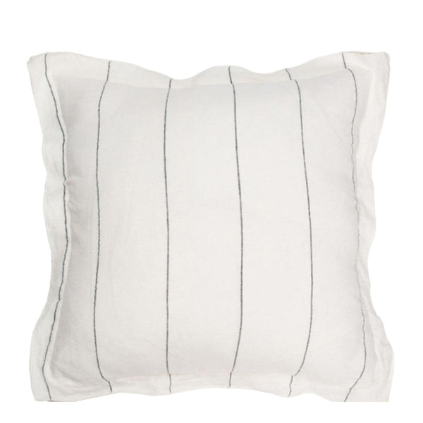 linen stripe cushion large