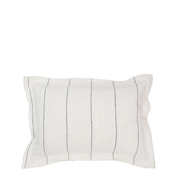 linen stripe cushion rectangle