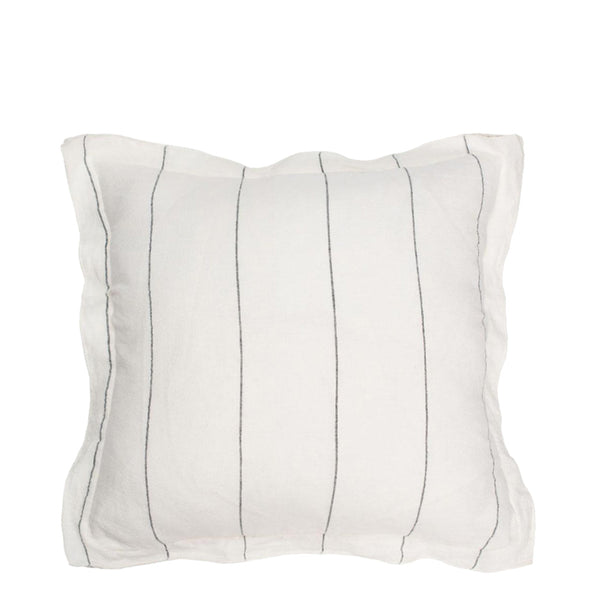 linen stripe cushion small