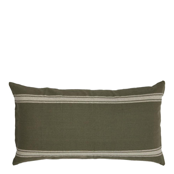 admiral cushion olive + natural