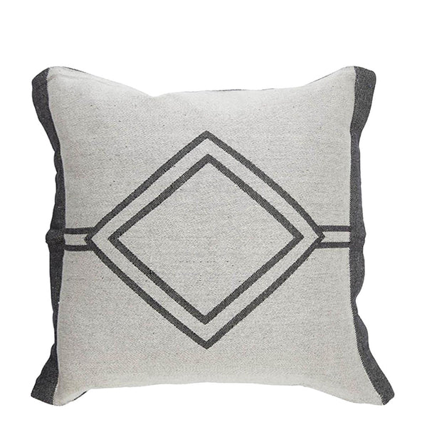 misty creek cushion charcoal + grey