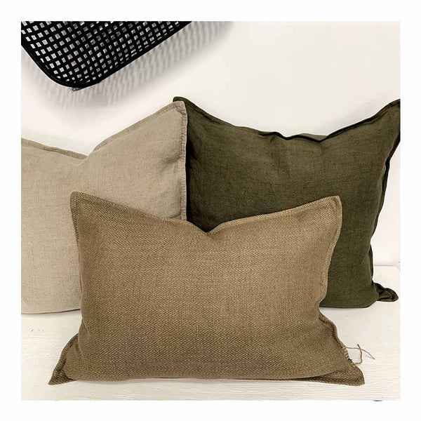 sabi khaki cushion
