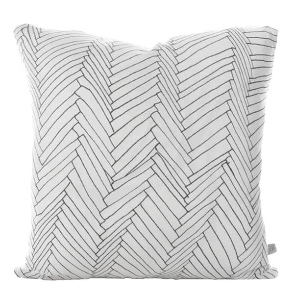 white thatch linen cushion large