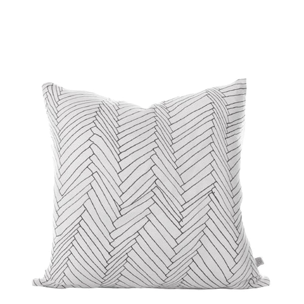 white thatch linen cushion small