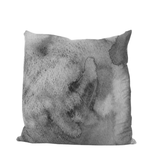 grey water linen cushion - large
