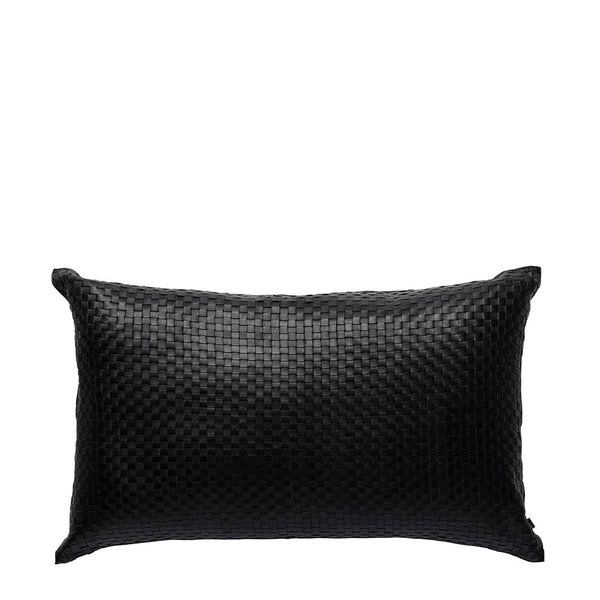 nappa black cushion