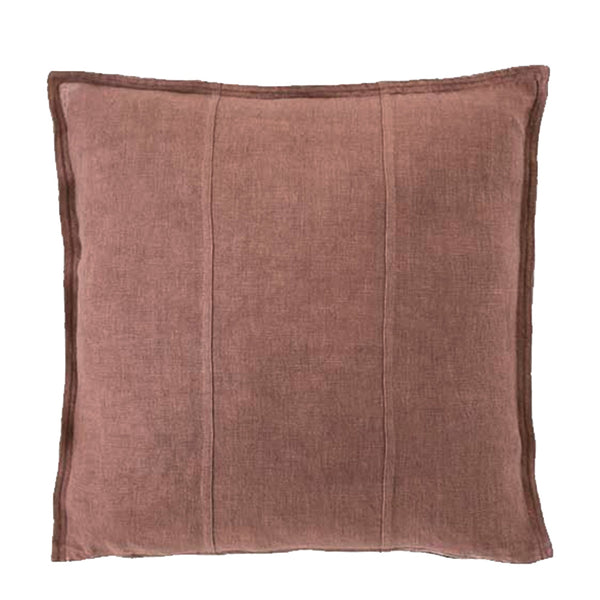 linen cushion large desert rose
