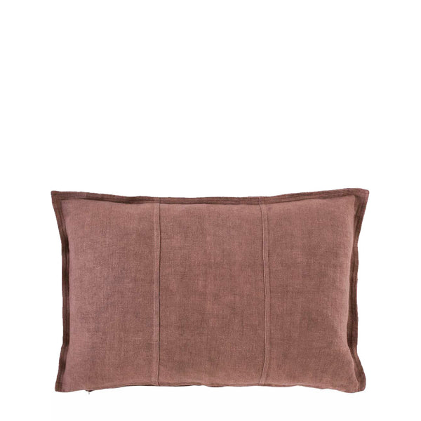 linen cushion rectangle desert rose