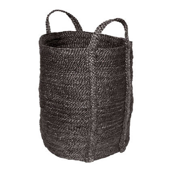 laundry jute basket - charcoal