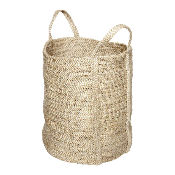 laundry jute basket natural