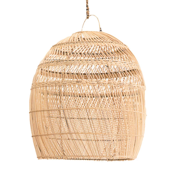 dome rattan pendant natural