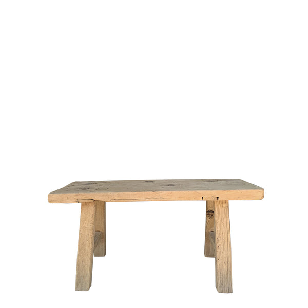 elm rustic bench seat small 1