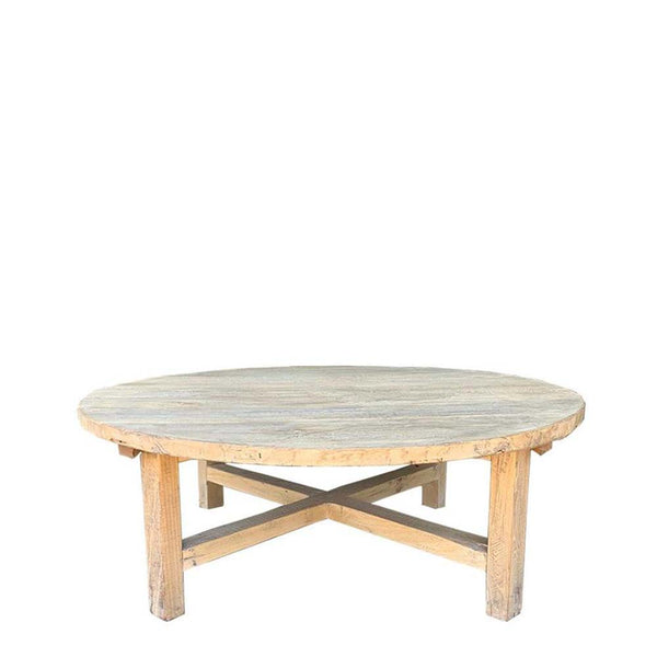 elm coffee table round small
