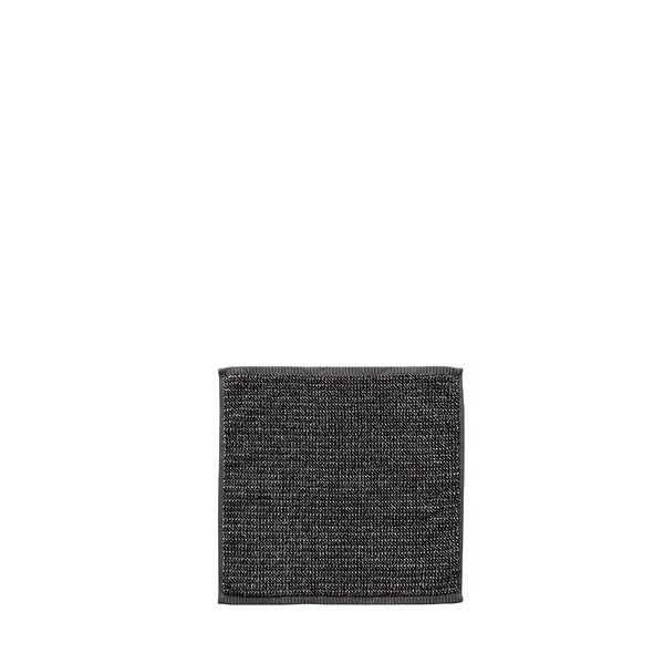 tweed face towel charcoal