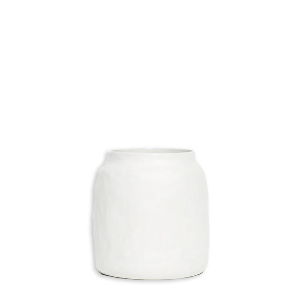 flax kitchen pot - snow white small