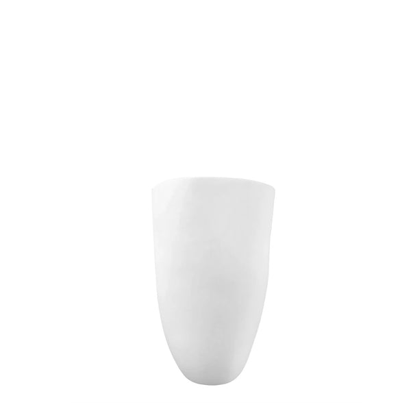 flax small vase white