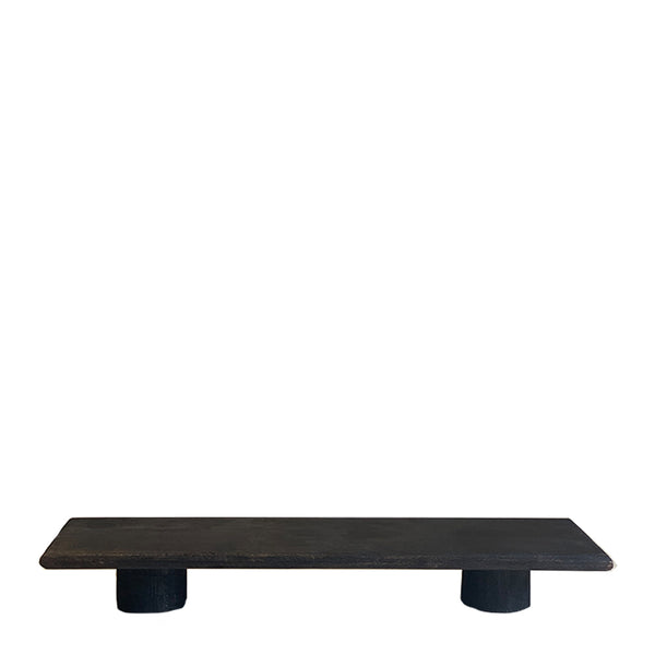 footed grazing platter black