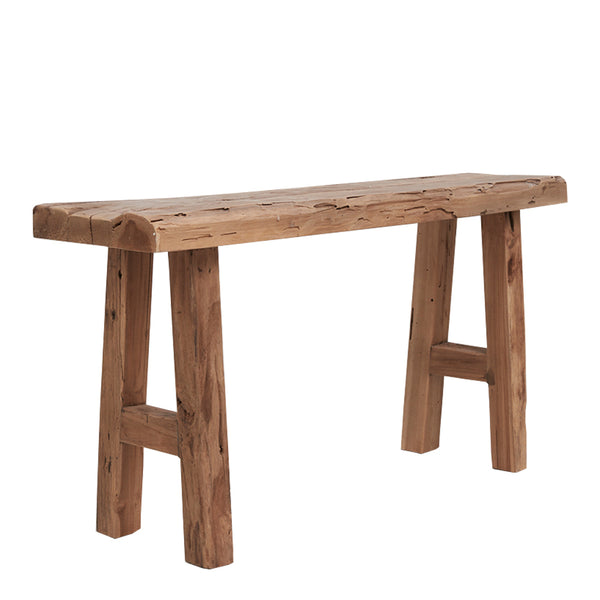 mikha rustic bench seat small