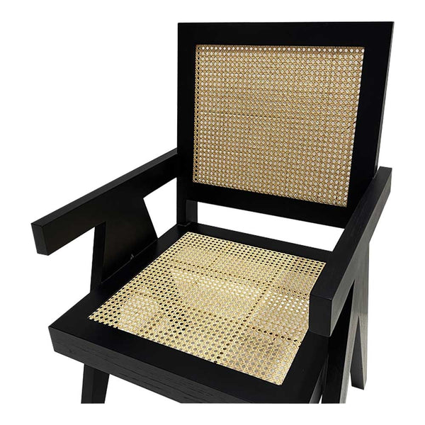 sunday rattan chair black/natural