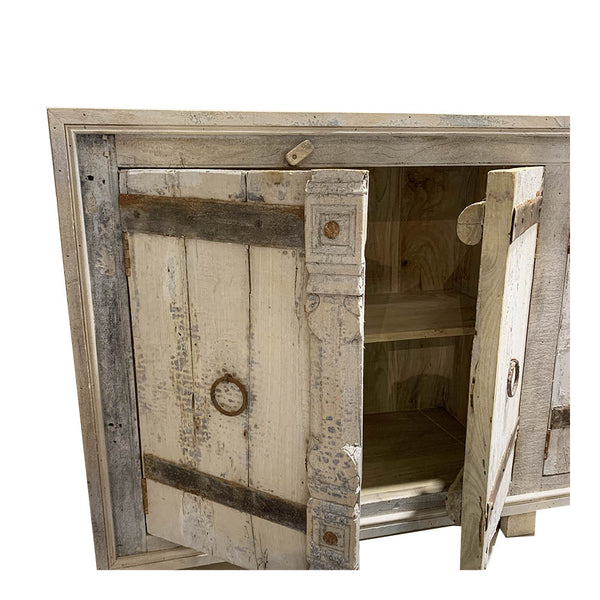 rustic door console - washed grey
