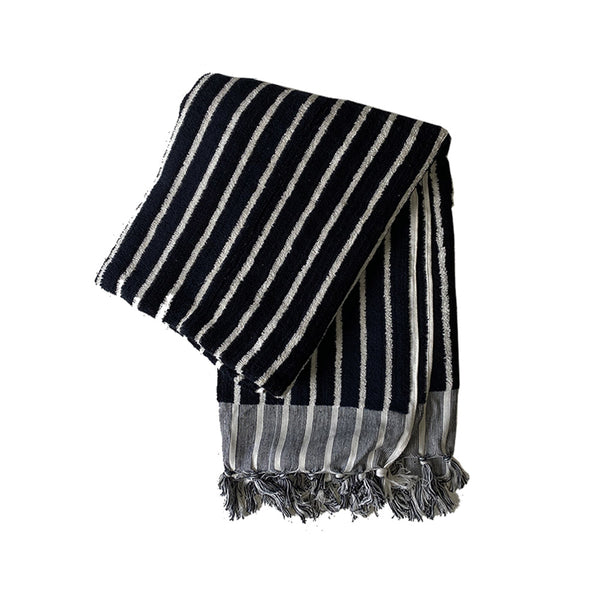 havva stripe towel black